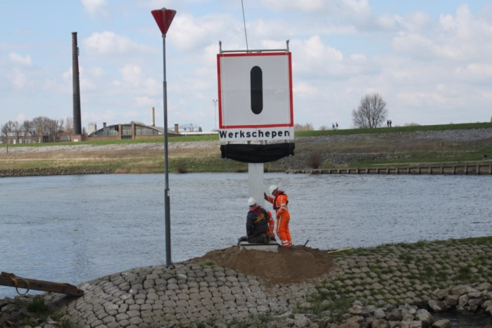 Scheepvaartborden afschermen